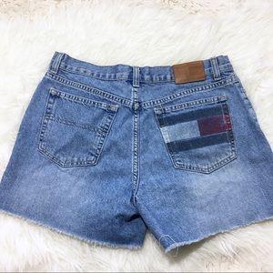 Tommy Hilfiger Cut Off Jean Shorts Flag Size 10